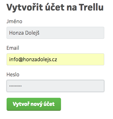 Trello-registrace