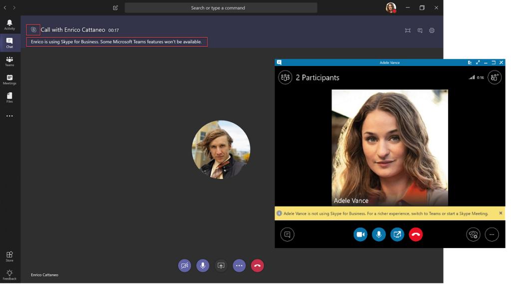 Microsoft Teams volání